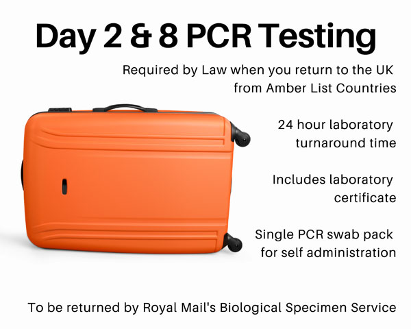 Day 2 and 8 Travel Testing PCR Packages