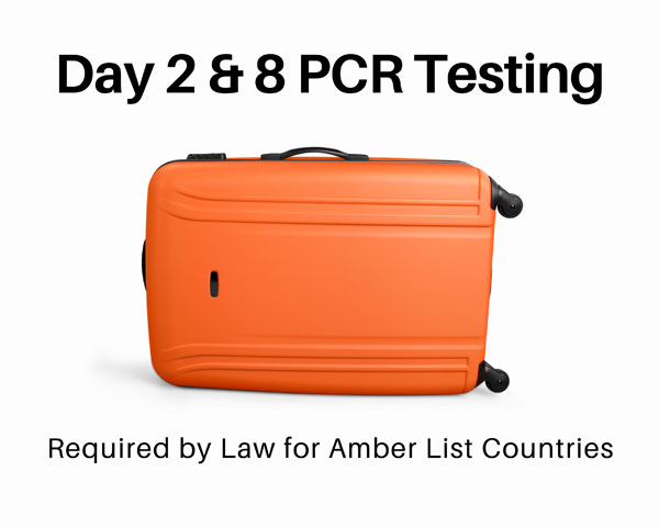 PCR Testing Day 2 and 8 Travel Package