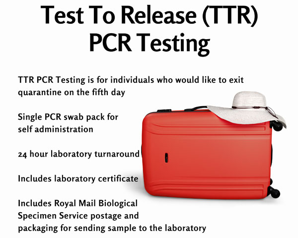 TTR PCR Testing For Test To Release