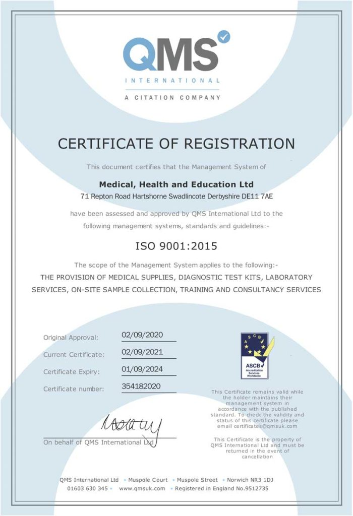 MHE - ISO-9001:2015 Accreditation Certificate V2